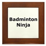 Badminton Ninja Framed Tile