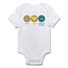 Peace Love Deep Sea Fishing Infant Bodysuit