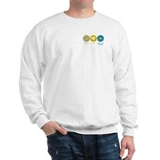 Peace Love Deep Sea Fishing Sweatshirt