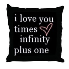 I love you times infinity plus one pillow