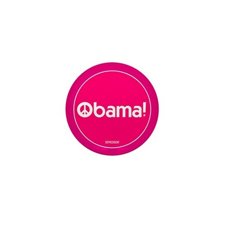 Pink Obama Peace Mini Button (10 pack)