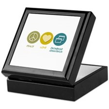 Peace Love Database Administration Keepsake Box