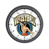 Men's Volleyball Logo Wall Clock