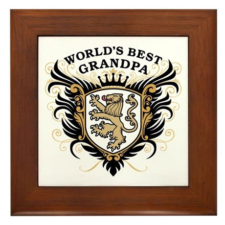 World's Best Grandpa Framed Tile
