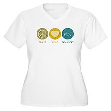 Peace Love Data Entry T-Shirt