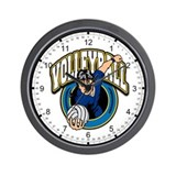 Women's Volleyball Logo Wall Clock