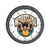 Wrestling Logo Wall Clock
