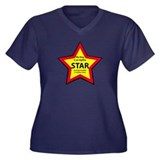 Agility Star Women's Plus Size V-Neck Dark T-Shirt