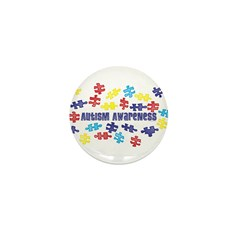 Autism Awareness Puzzle Piece Mini Button (100 pac