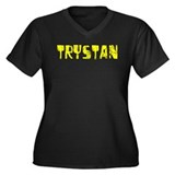 Trystan Faded (Gold) Women's Plus Size V-Neck Dark