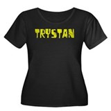 Trystan Faded (Gold) Women's Plus Size Scoop Neck