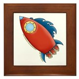 Cute Rocket Picture 2 Framed Tile