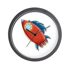 Cute Rocket Picture 2 Wall Clock
