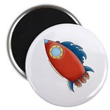 Cute Rocket Picture 2 2.25&quot; Magnet (100 pack)