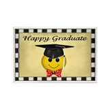 Smiley Graduate Rectangle Magnet (10 pack)