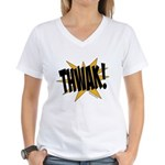 THWAK! Women's V-Neck T-Shirt