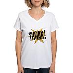 THWAK! Women's V-Neck T-Shirt