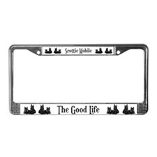 Scottish Terrier Good Life Do License Plate Frame