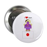 "I Love Japan 2.25"" Button (10 pack)"