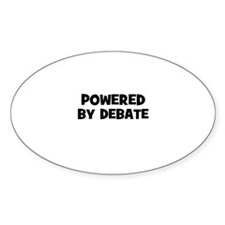 Powered By Debate Oval Decal