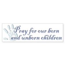 Pray children (hand) Bumper Sticker (50 pk)