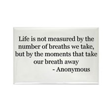 Life is not Measured 2 Rectangle Magnet (10 pack)