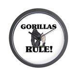 Gorillas Rule! Wall Clock
