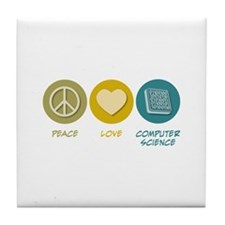 Peace Love Computer Science Tile Coaster