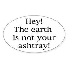 Cigarette Litterbug Oval Sticker (10 pk)