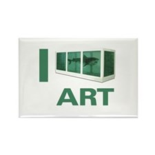 I Love Art-Hirst Rectangle Magnet