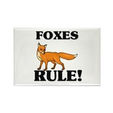 Foxes Rule! Rectangle Magnet