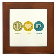 Peace Love Climb Framed Tile