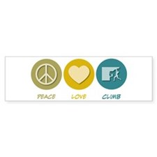 Peace Love Climb Bumper Bumper Sticker