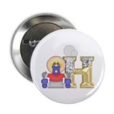 "Baby Initials - H 2.25"" Button (10 pack)"