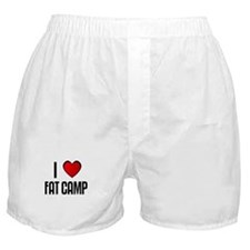 I LOVE FAT CAMP Boxer Shorts