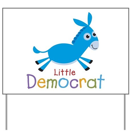 Little Democrat Yard Sign