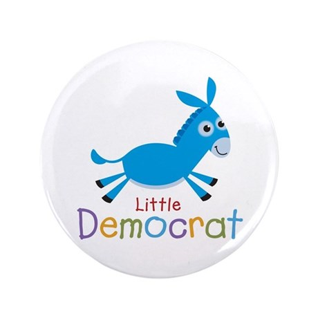 "Little Democrat 3.5"" Button"