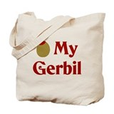 Olive (I Love) My Gerbil Tote Bag