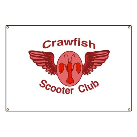 Crawfish Scooter Club Banner