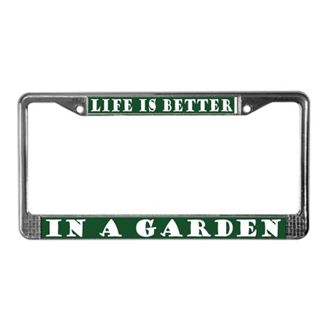 In A Garden License Plate Frame