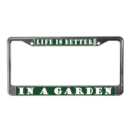 In A Garden License Plate Frame