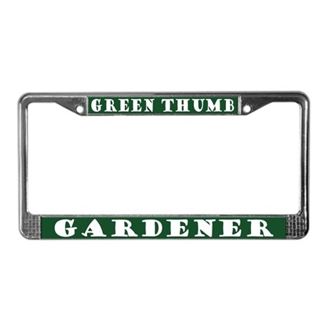Green Thumb Gardener License Plate Frame