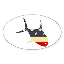 """Patriotic Permit"" Oval Decal"
