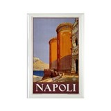 Napoli Travel poster Rectangle Magnet