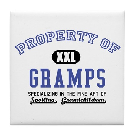 Property of Gramps Tile Coaster