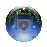 Trucker's Holiday Crystalball Ornament (Round)