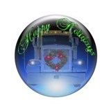 Trucker's Holiday Crystalball 3.5&quot; Button