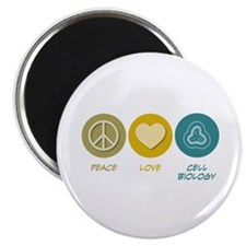 """Peace Love Cell Biology 2.25"""" Magnet (10 pack"""