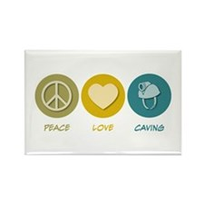 Peace Love Caving Rectangle Magnet
