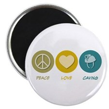 "Peace Love Caving 2.25"" Magnet (100 pack)"